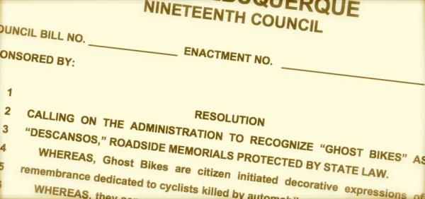 Albuquerque Ghost Bike ordinance