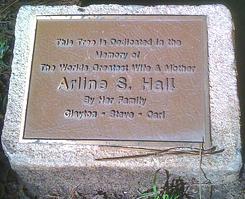 Plaque Text under Memorial Tree