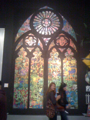 a touch of sacred - Banksy's window