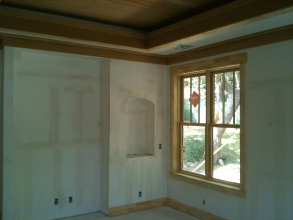 Craftsman Trim details, light cove, niche, window