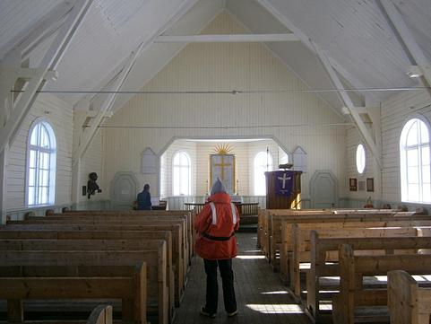 Grytviken church inside