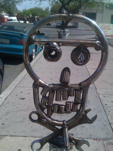 Historic district bike rack scull