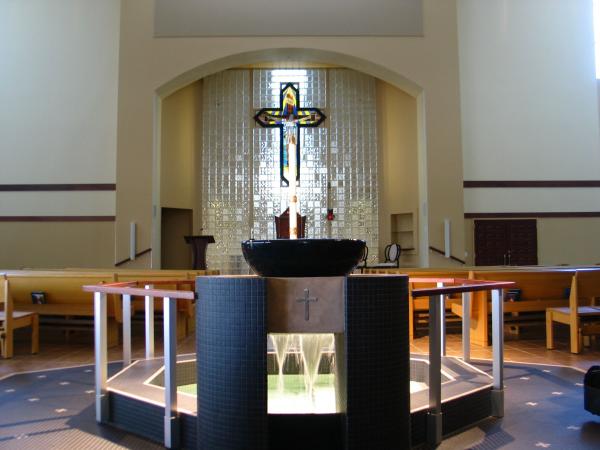 Baptismal Font, St Albert Trapani Catholic Church, Houston TX