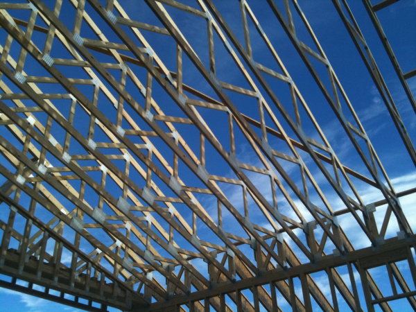 LDS Kyle Stake, Roof Trusses