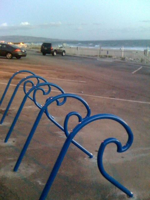 Manhattan Beach bike rack