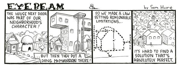 McMansion Eyebeam Cartoon