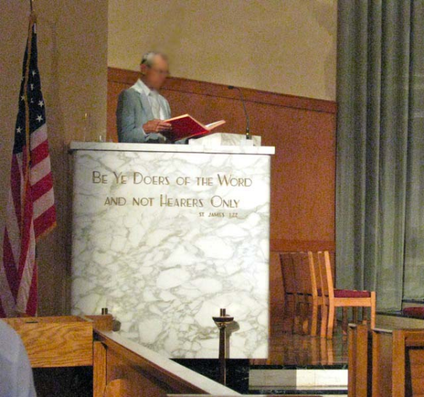 Liturgical Focus - American Martyrs Pulpit