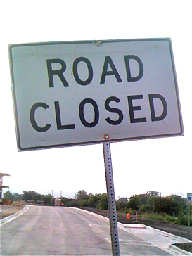 Closed Street sign