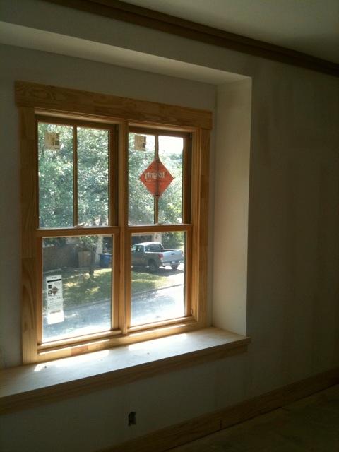 Craftsman Trim Details, Window Seat