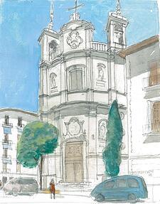 Architectural Watercolor San Michael