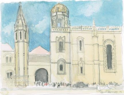 Architectural Watercolor Sa Jeronomo