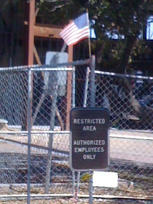 IRS Plane Crash Building w. American Flag