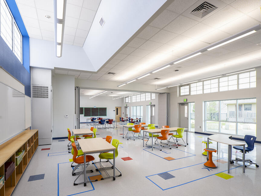 Pickle Elementary Multi-purpose Classroom Open Layout