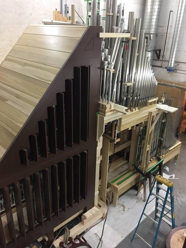 Good Shepherd Organ in the shop.jpg