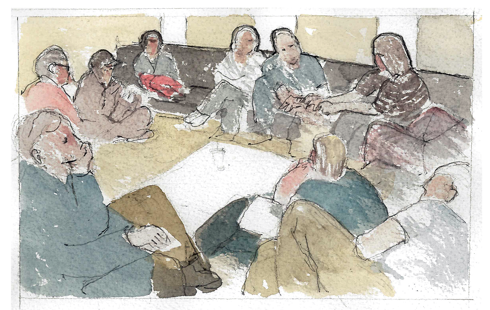 Watercolor Dealing With Church Conflict - Building Projects and Mission Statements