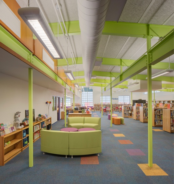 Andrews Elementary School Library Looking from existing to new Website