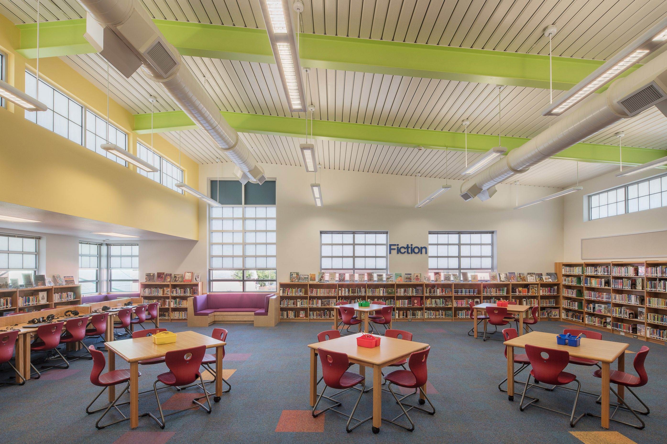 Andrews Elementary School New Reading Room End Wall Website