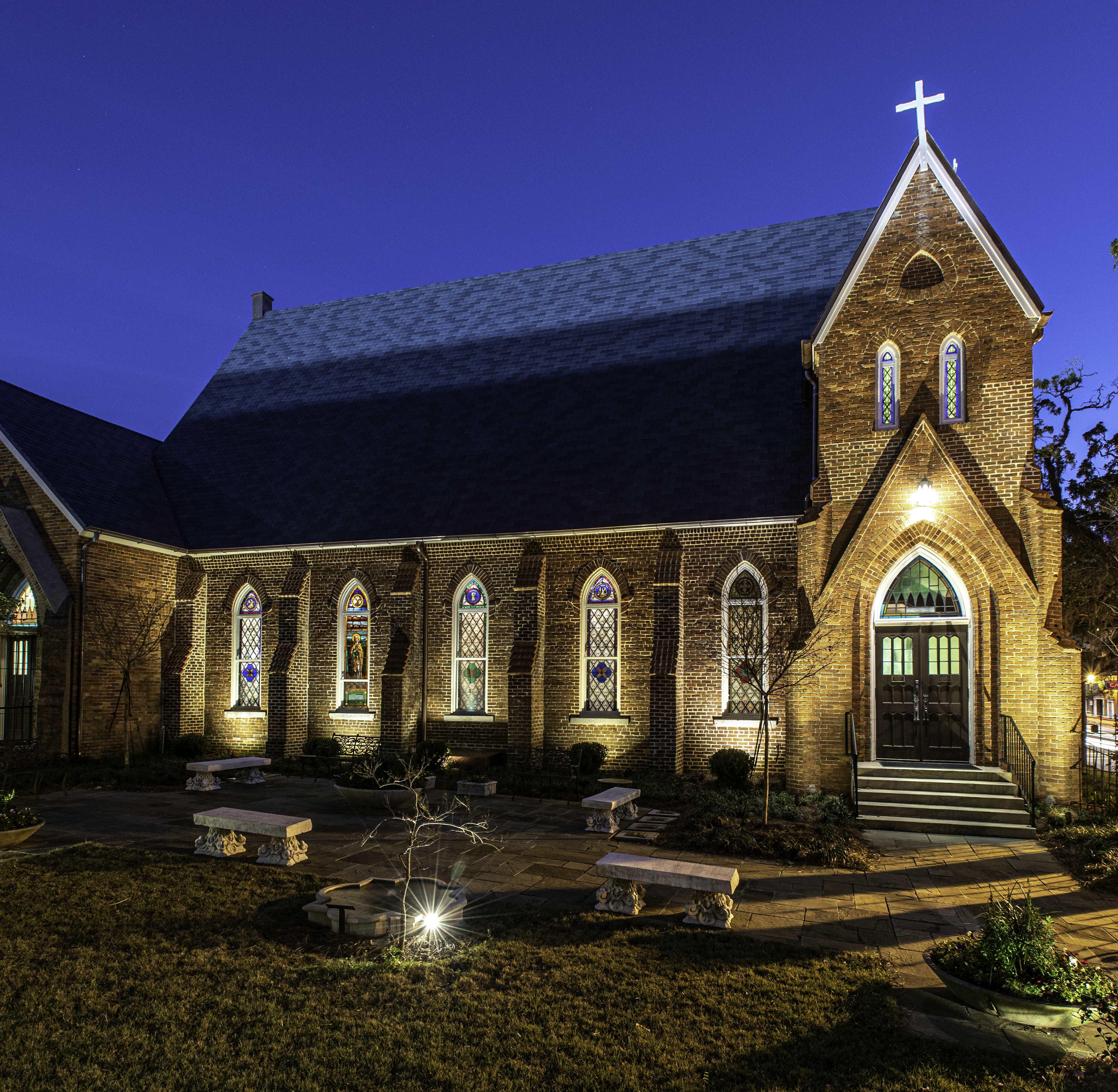St. Johns After Restoration North Night Shot - Portfolio