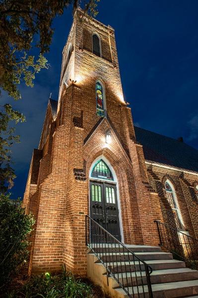 St. Johns After Restoration Tower Night Shot - Portfolio
