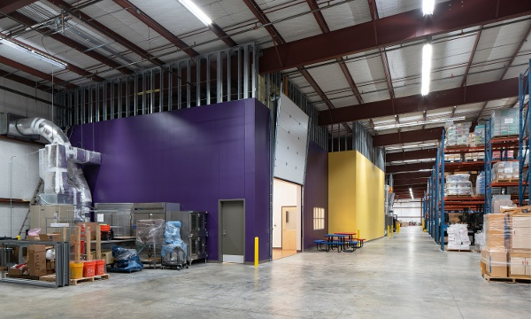 AISD Food Service Warehouse View, Adaptive Reuse, Heimsath Architects, Austin, Texas
