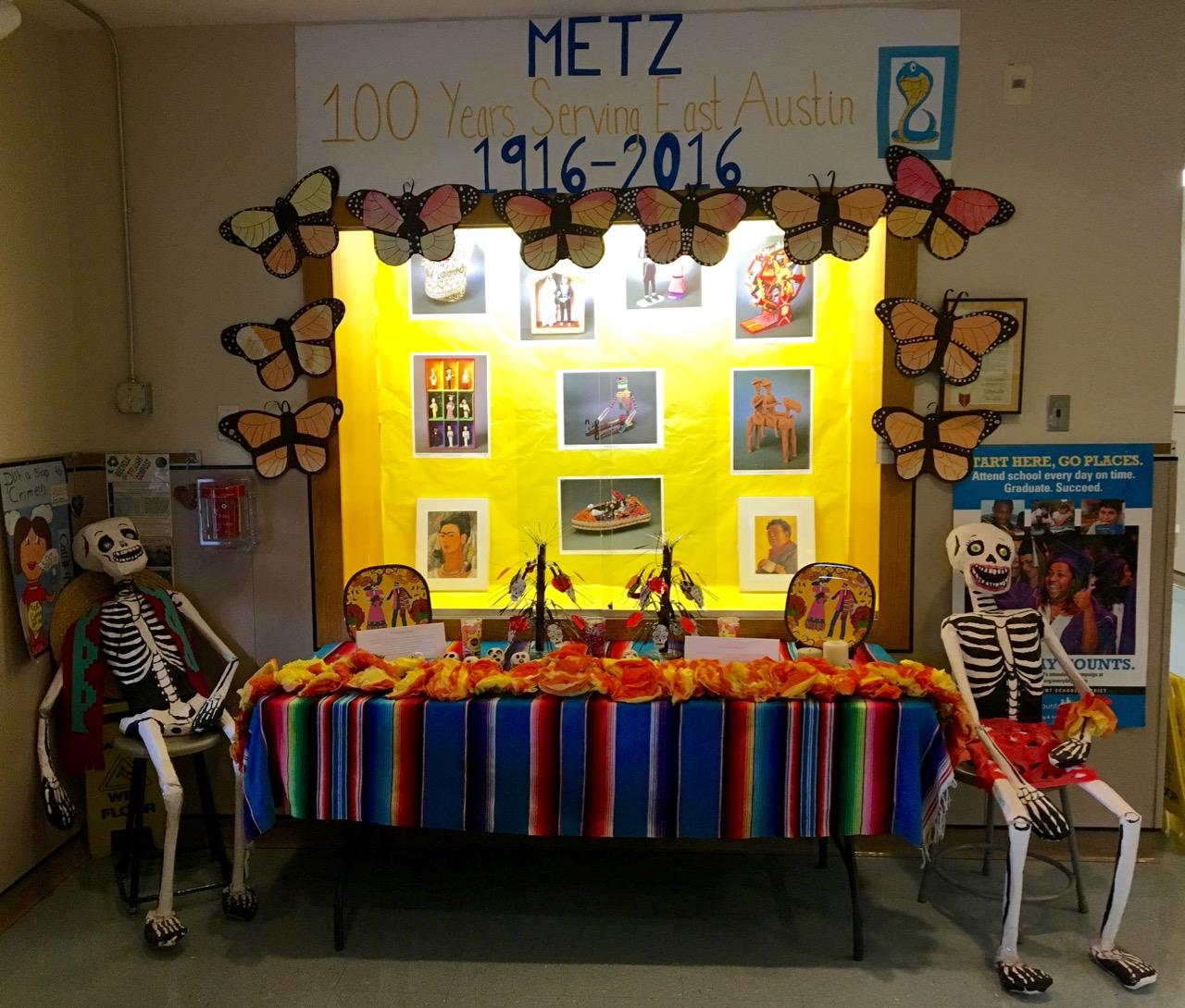 Ready for Dia de los Muertos at Metz Elementary