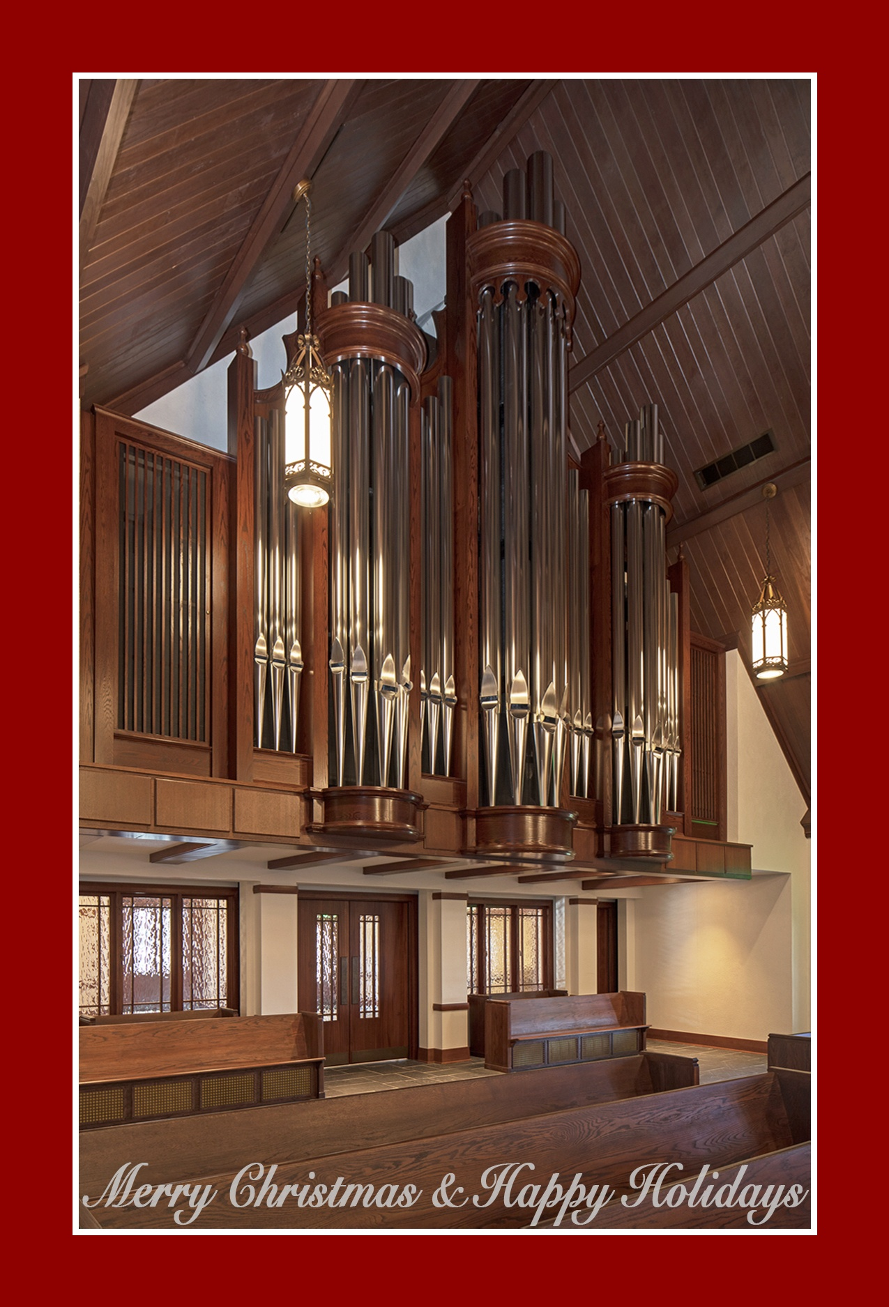 Létourneau Organ Featured on Christmas Card