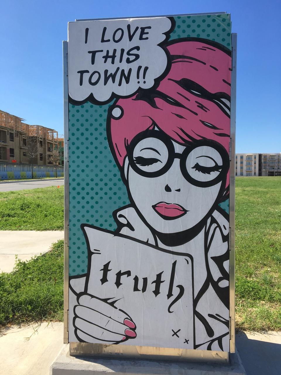 Street Art Homage to Pop Art and Austin