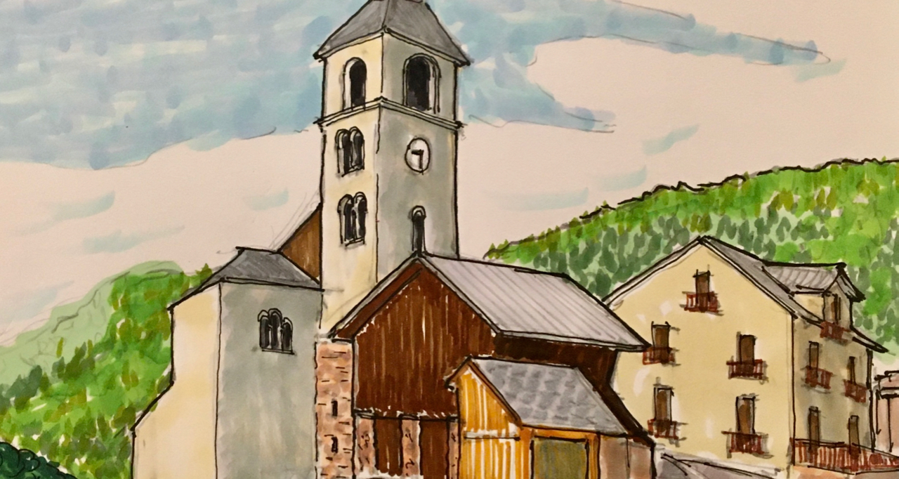 Church Sketching Along the Tour de France - Virtually